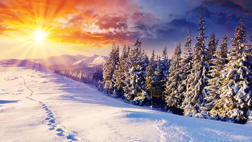 Wunderschöne Winterlandschaft.